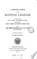 A compendious grammar of the Egyptian language  With an